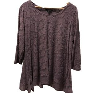 Simply Vera Woman's Purple Lace Blouse